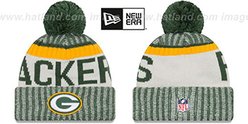 Packers 2017 STADIUM BEANIE Green Knit Hat by New Era