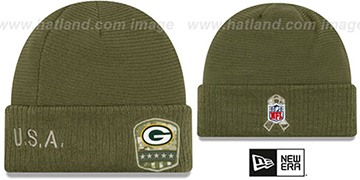 Packers 2019 SALUTE-TO-SERVICE Knit Beanie Hat by New Era