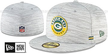 Packers 2020 ONFIELD STADIUM Heather Grey Fitted Hat by New Era