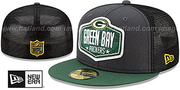 Packers 2021 NFL TRUCKER DRAFT Fitted Hat by New Era