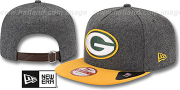 Packers '2T MELTON A-FRAME STRAPBACK' Hat by New Era