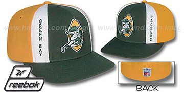 Packers 'AJD THROWBACK' Green-Gold Fitted Hat by Reebok