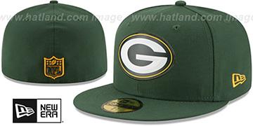 Packers 'BEVEL' Green Fitted Hat by New Era