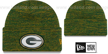 Packers BEVEL Green-Gold Knit Beanie Hat by New Era
