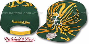 Packers EARTHQUAKE SNAPBACK Green Hat by Mitchell & Ness