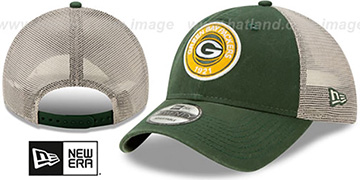 Packers ESTABLISHED CIRCLE TRUCKER SNAPBACK Hat by New Era
