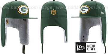 Packers FLURRY-FIT DOGEAR Green Fitted Hat by New Era