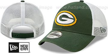 Packers FRAYED LOGO TRUCKER SNAPBACK Hat by New Era