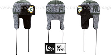 Packers FROSTWORK TRAPPER Green Knit Hat by New Era