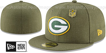 Packers HEATHERED-PIN Green Fitted Hat by New Era
