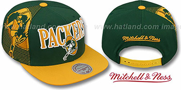 Packers 'LASER-STITCH SNAPBACK' Green-Gold Hat by Mitchell & Ness