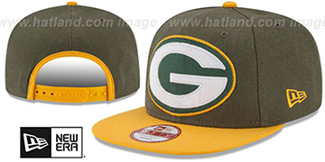 Packers LOGO GRAND SNAPBACK Olive-Gold Hat by New Era