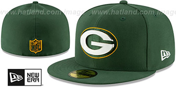 Packers METAL-N-THREAD Green Fitted Hat by New Era
