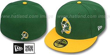 Packers 'NFL 2T THROWBACK TEAM-BASIC' Green-Gold Fitted Hat by New Era