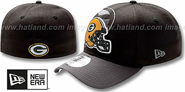 Packers NFL BLACK-CLASSIC FLEX Hat by New Era