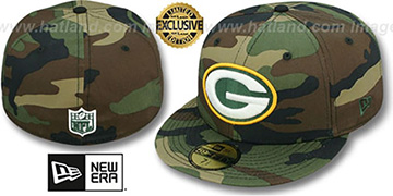 Packers NFL TEAM-BASIC Army Camo Fitted Hat by New Era