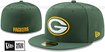 Packers NFL TEAM-BASIC Green Fitted Hat by New Era
