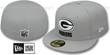 Packers 'NFL TEAM-BASIC' Grey-Black-White Fitted Hat by New Era