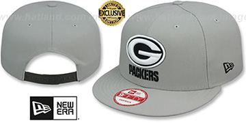 Packers NFL TEAM-BASIC SNAPBACK Grey-Black Hat by New Era