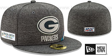 Packers 'ONFIELD CRUCIAL CATCH' Grey Fitted Hat by New Era