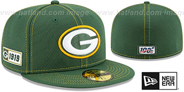 Packers ONFIELD SIDELINE ROAD Green Fitted Hat by New Era