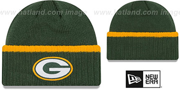 Packers RIBBED-UP Green Knit Beanie Hat by New Era