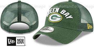 Packers RUGGED-TEAM TRUCKER SNAPBACK Green Hat by New Era