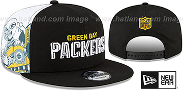 Packers 'SIDE-CARD SNAPBACK' Black Hat by New Era
