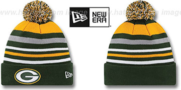 Packers 'STRIPEOUT' Knit Beanie Hat by New Era