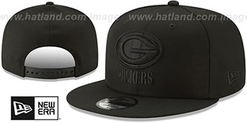 Packers TEAM-BASIC BLACKOUT SNAPBACK Hat by New Era