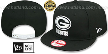 Packers TEAM-BASIC SNAPBACK Black-White Hat by New Era