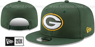 Packers TEAM-BASIC SNAPBACK Green Hat by New Era
