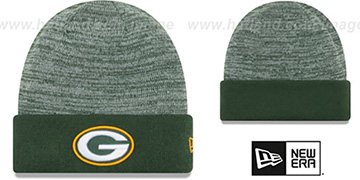 Packers 'TEAM-RAPID' Green-White Knit Beanie Hat by New Era