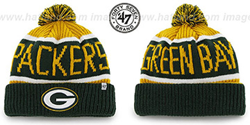 Packers THE-CALGARY Green-Gold Knit Beanie Hat by Twins 47 Brand
