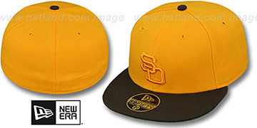 Padres 1972 ROAD FASHION Gold-Brown Hat by New Era