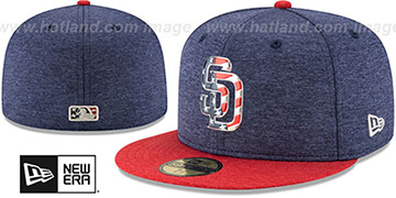 Padres '2017 JULY 4TH STARS N STRIPES' Fitted Hat by New Era