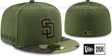 Padres 2017 MEMORIAL DAY 'STARS N STRIPES' Hat by New Era