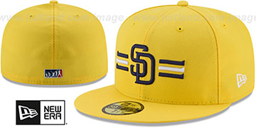Padres 2017 MLB LITTLE-LEAGUE Yellow Fitted Hat by New Era