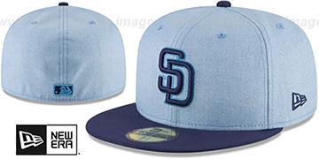 Padres '2018 FATHERS DAY' Sky-Navy Fitted Hat by New Era