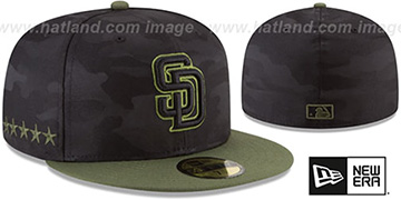 Padres 2018 MEMORIAL DAY STARS N STRIPES Hat by New Era