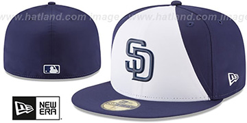 Padres 2018 PROLIGHT-BP White-Navy Fitted Hat by New Era