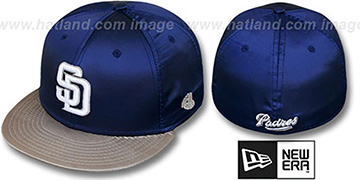 Padres '2T SATIN CLASSIC' Navy-Tan Fitted Hat by New Era