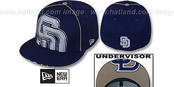 Padres 'BIG-UNDER' Navy Fitted Hat by New Era