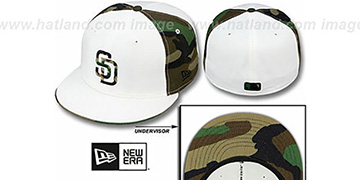 Padres 'COLOR BLOCK' White-Army Camo Fitted Hat by New Era