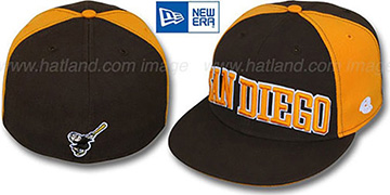 Padres COOP 'JMACK ARCH' Brown-Gold Fitted Hat by New Era
