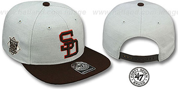 Padres COOP SATCHEL SNAPBACK Adjustable Hat by Twins 47 Brand