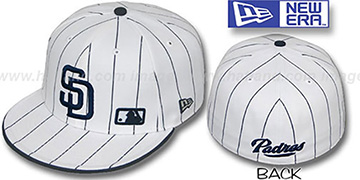 Padres FABULOUS White-Navy Fitted Hat by New Era