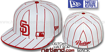 Padres 'FABULOUS' White-Red Fitted Hat by New Era