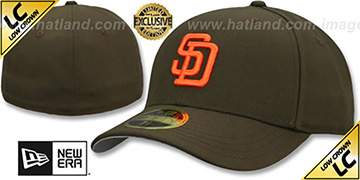 Padres LOW-CROWN 1985-90 COOPERSTOWN Fitted Hat by New Era
