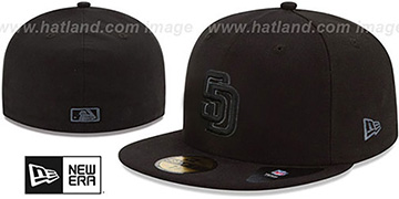 Padres 'MLB FADEOUT-BASIC' Black Fitted Hat by New Era